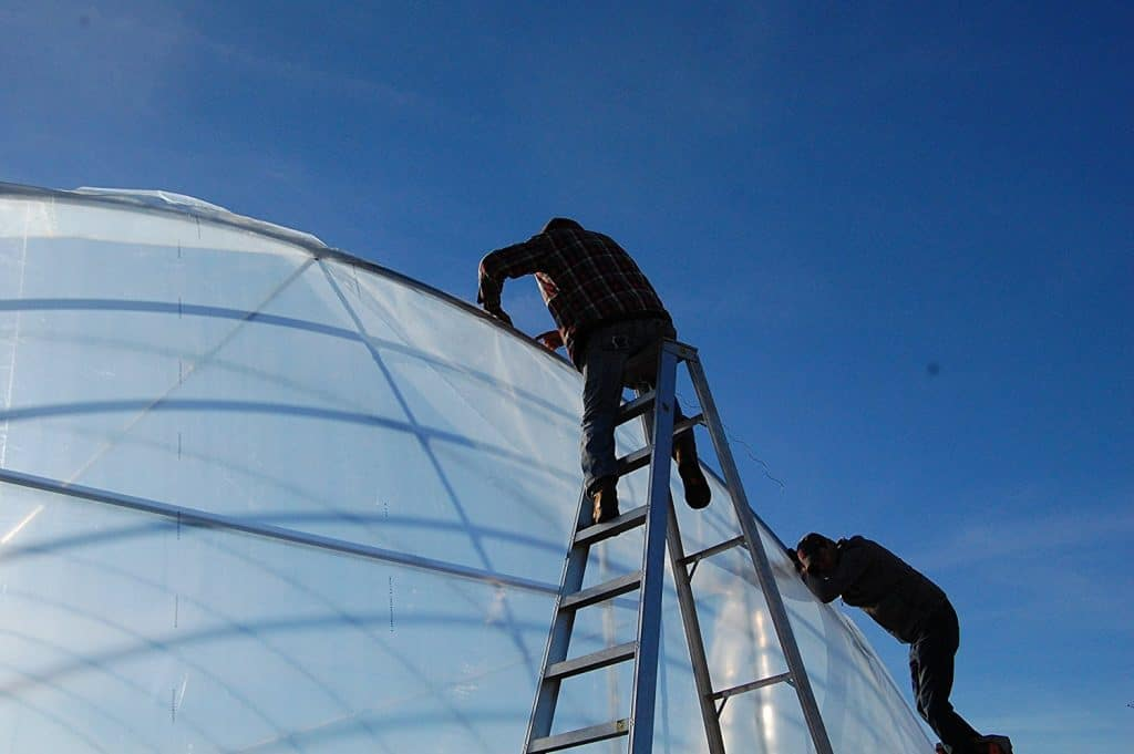 Silo Greenhouse Best Plastic Sheeting